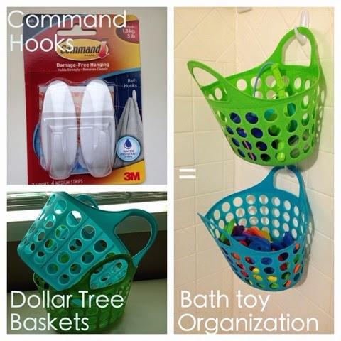 Easy bath toy organization