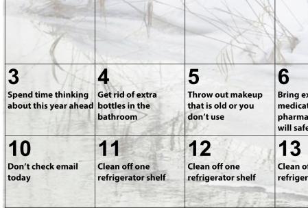 Declutter calendar - such a lifesaver for organization!