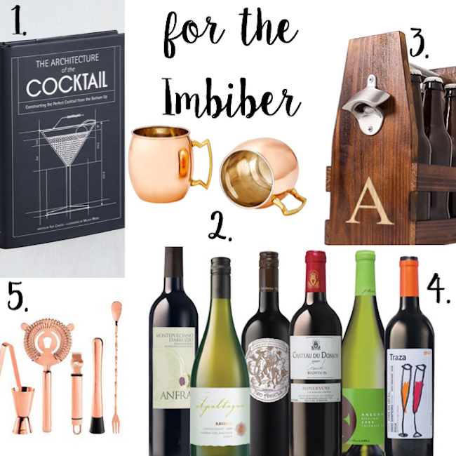 Gift Guide for the Imbiber - such fun ideas!