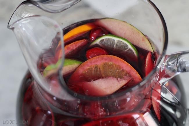 Black Currant Lime Sparkling Sangria