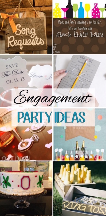These are such fun engagement party ideas! via @lydioutloud