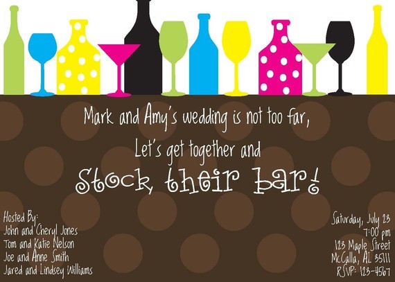 Stock the Bar Engagement Party Invitations