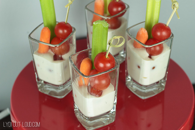 Veggies and dip shooters