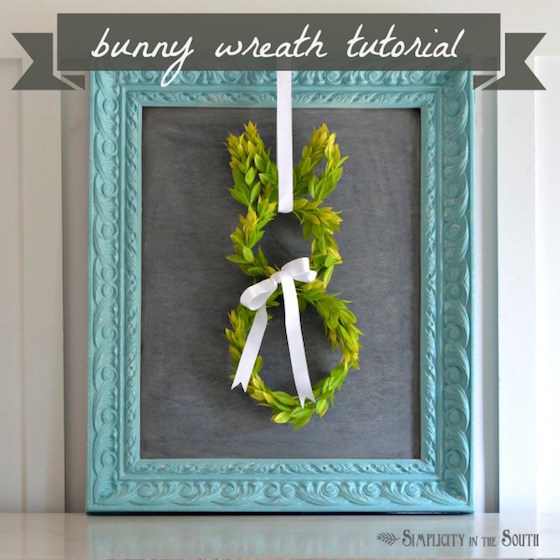Boxwood Easter Bunny Wreath - so cute!