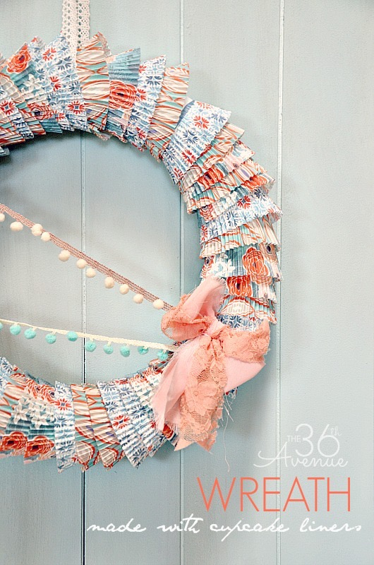DIY Cupcake Liner Wreath Tutorial