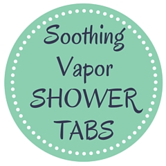 Soothing vaporizing shower tabs - printable label