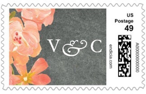Personalized stamps for wedding invitations - would be a great engagement gift!