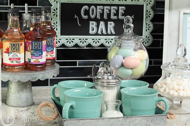 Fun Easter Brunch coffee bar!