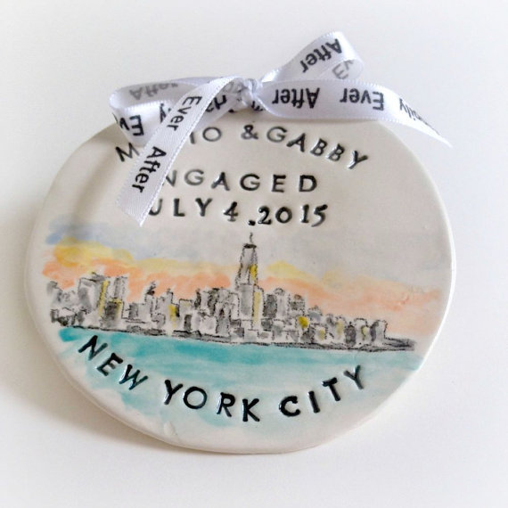 Personalized engagement ornament - what a perfect engagement gift idea!