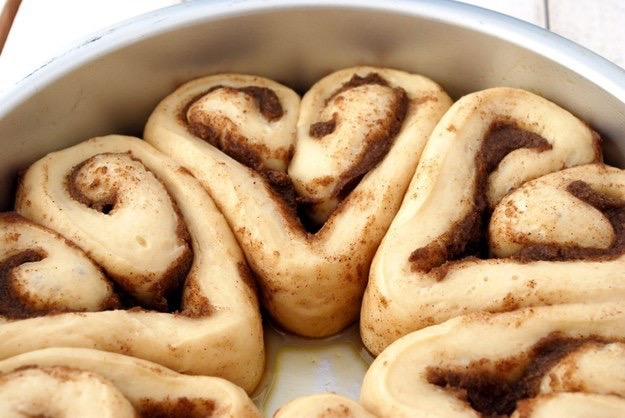 Heart shaped cinnamon rolls - perfect for Valentine's Day breakfast in bed!