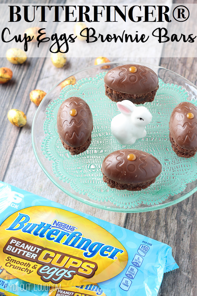 BUTTERFINGER® Cup Eggs Brownie Bars are the perfect treat for Easter!