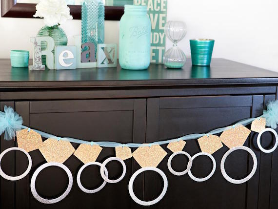 DIY Bling Bachelorette Party Banner