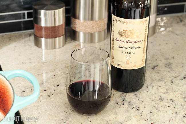 I love to cook with (and sip on) wine!