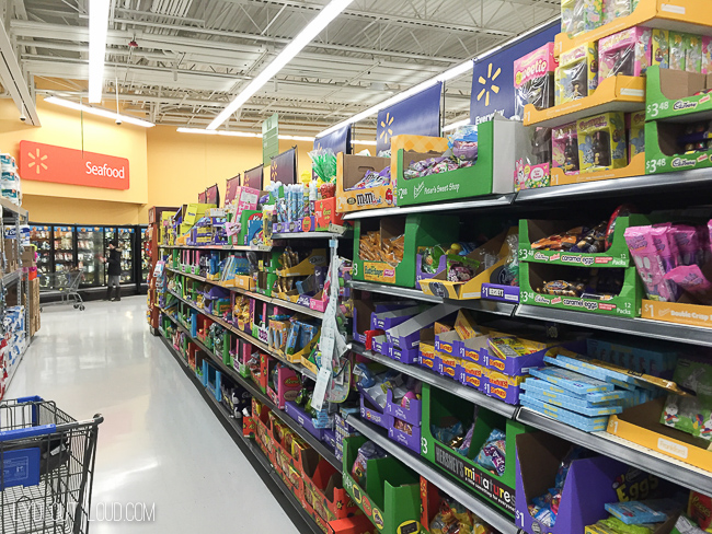 Easter candy aisle at Walmart