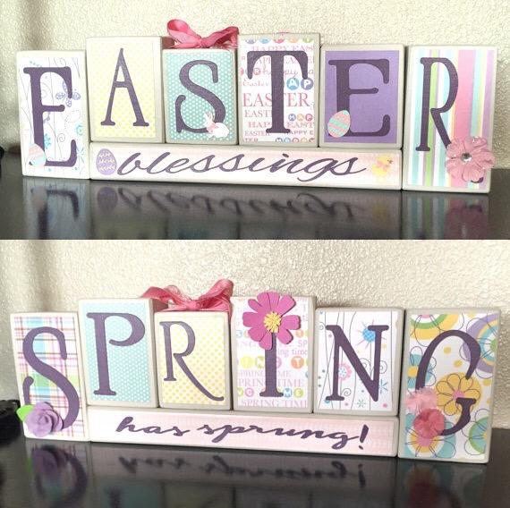 Reversible Easter/Spring Blocks