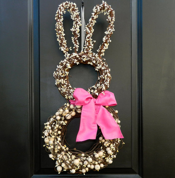 Easter bunny wreath - I love this!