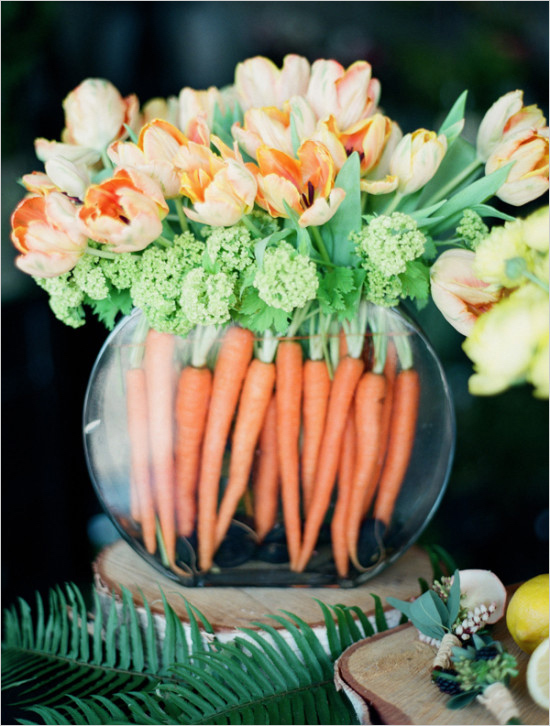 Beautiful Tulip and Carrot Easter decoration