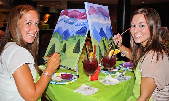 Paint Nite Bachelorette Party