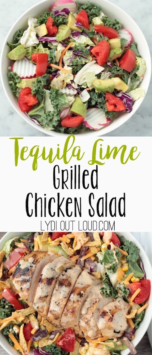 Tequila Lime Grilled Chicken Salad