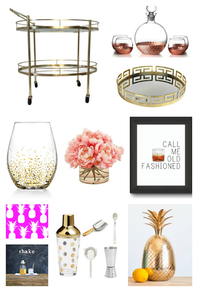 The ultimate guide to bar cart styling