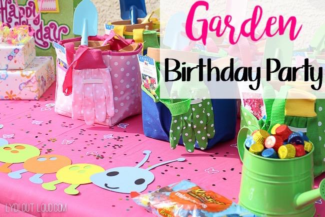 garden birthday party. kid\u0027s garden themed birthday party - so i