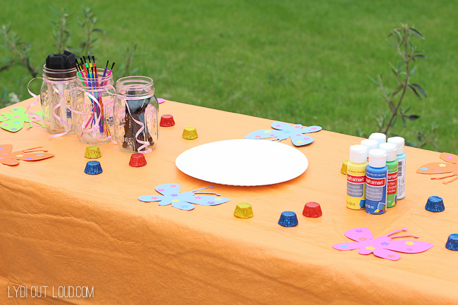 Painting supplies for kids birthday party!