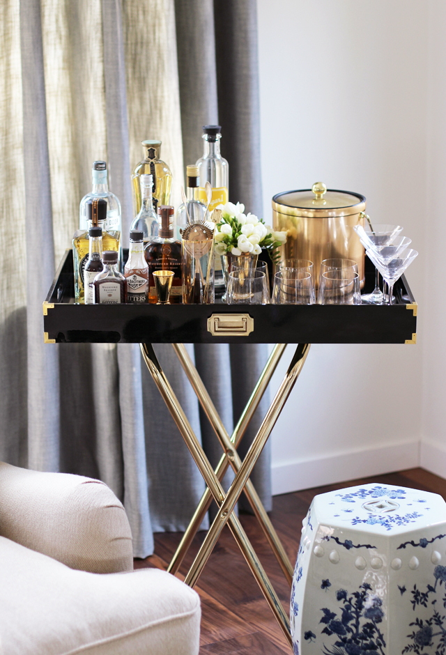 Love this DIY Bar Tray idea!