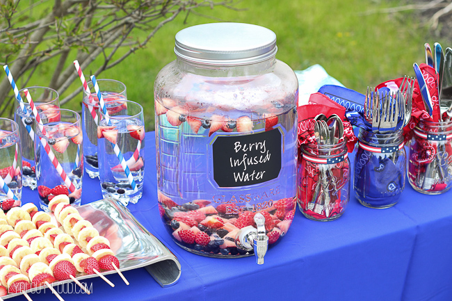 Memorial Day Party dessert table
