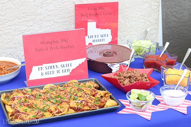 Memorial Day Party food table