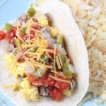 Breakfast taco and hash browns