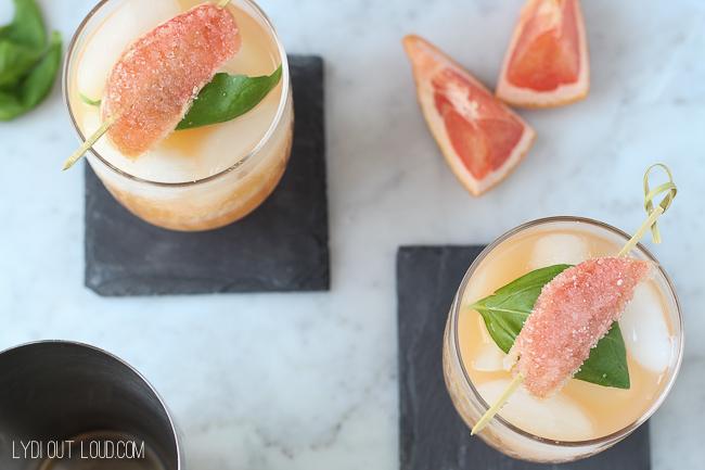 Refreshing Grapefruit Basil Cocktail