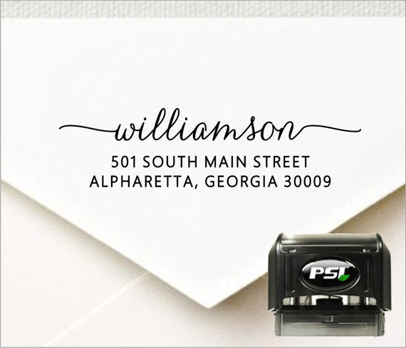 Love this beautiful font! This address stamp would make a great wedding gift!