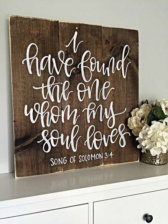 Rustic Song of Solomon Wood Sign - would be a beautiful wedding decoration or even wedding gift!