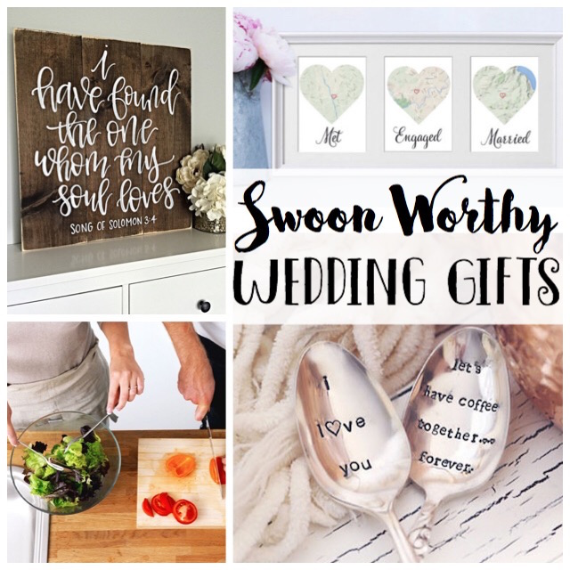 Swoon worthy wedding gifts. Such unique ideas!