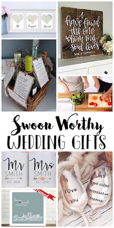 Swoon worthy wedding gifts to buy or DIY! via @lydioutloud