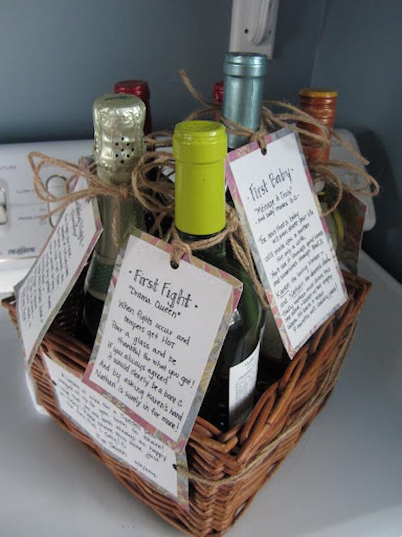 """Milestone"" wine basket - perfect engagement or wedding gift!"