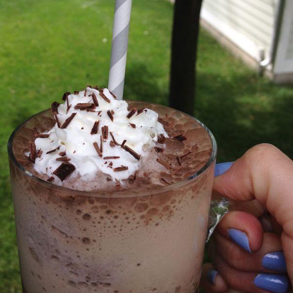 Healthy Starbucks Mocha Frappucino - so delish!