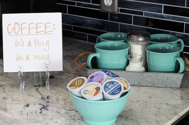 DIY Coffee Sign - so cute for a coffee station or coffee bar!