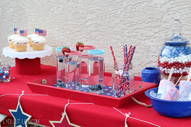 Such a festive red, white and blue summer party!