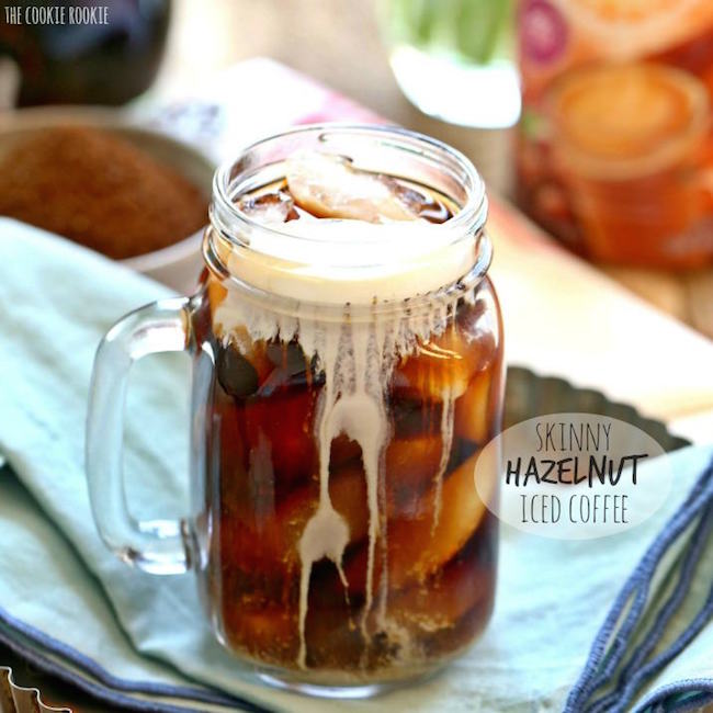 Skinny Hazelnut Iced Coffee