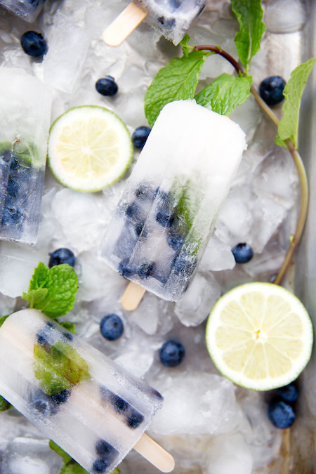 Blueberry Mojito Popsicles sounds like such a refreshing summer refreshment!