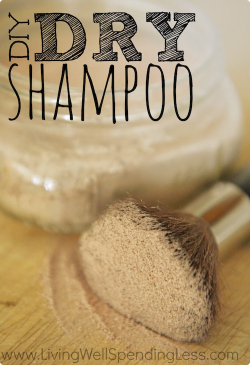 This DIY Dry Shampoo is amazing! It's super absorbent without leaving gross residue like many dry shampoos do.