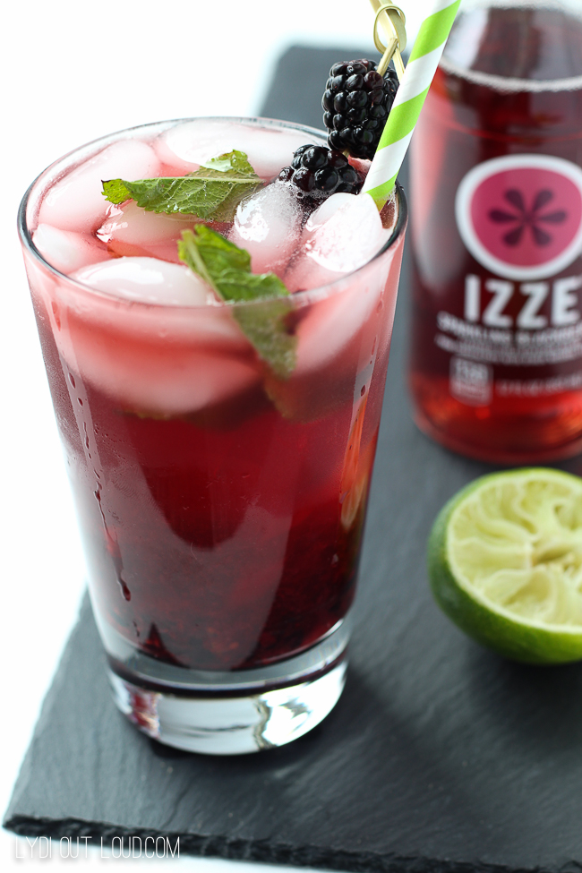 Add some fizz to make this Blackberry Mojito the best ever!