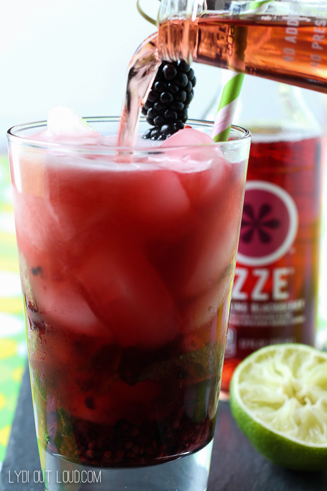 This sparkling blackberry mojito is my favorite new beverage!
