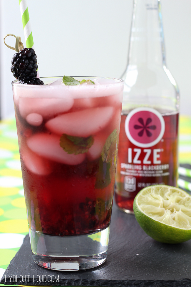 This Sparkling Blackberry Mojito is such a delicious refreshing cocktail!
