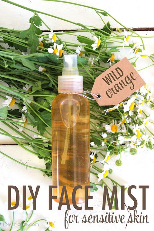 All Natural Homemade Wild Orange Face Mist - this is so refreshing and smells amazing!