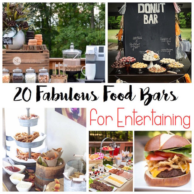 These are the most creative and fun food bars ever! Great party ideas!