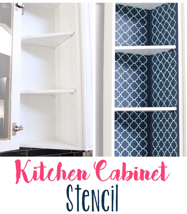 Exposed Kitchen Cabinet Stenciling Lydi Out Loud