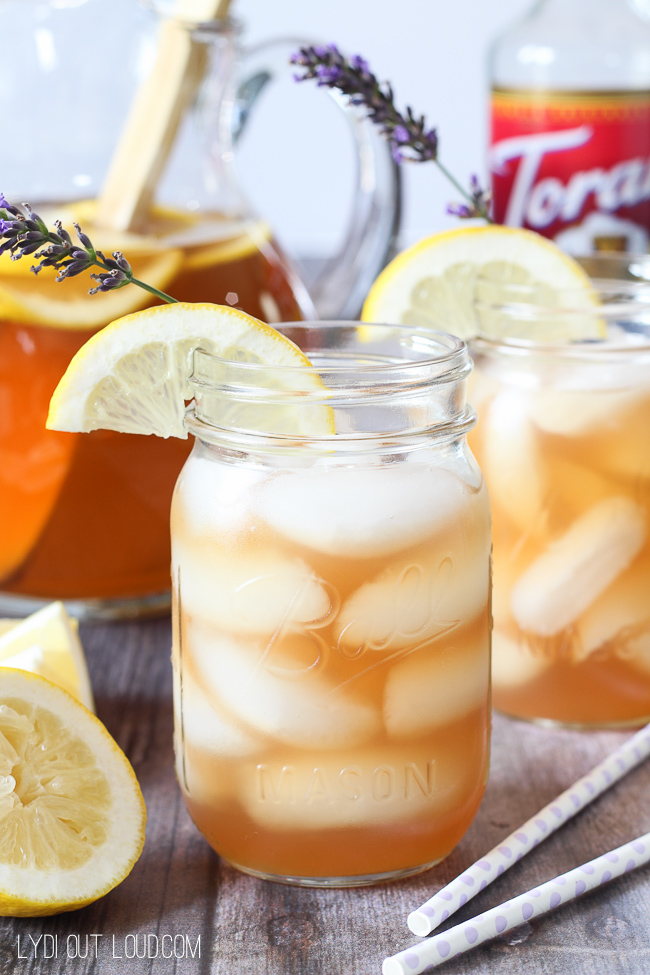 Delicious and refreshing Lavender Arnold Palmer!