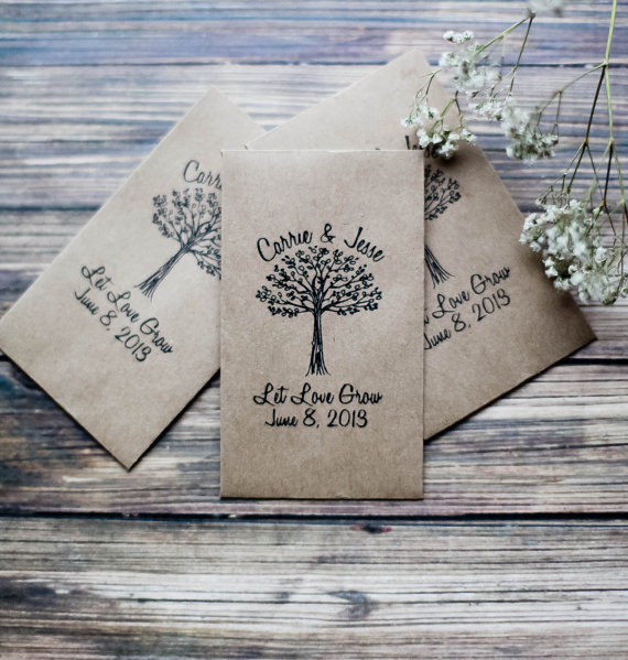 Let Love Grow seed packets - what a creative wedding favor idea!
